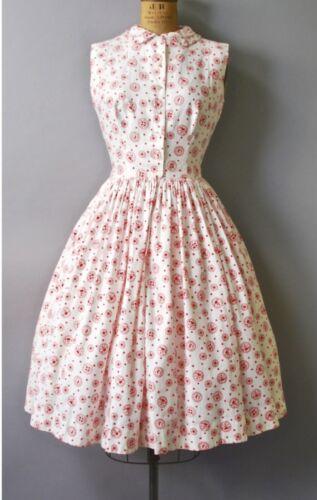 Vintage 1950s Valentine novelty print dress double