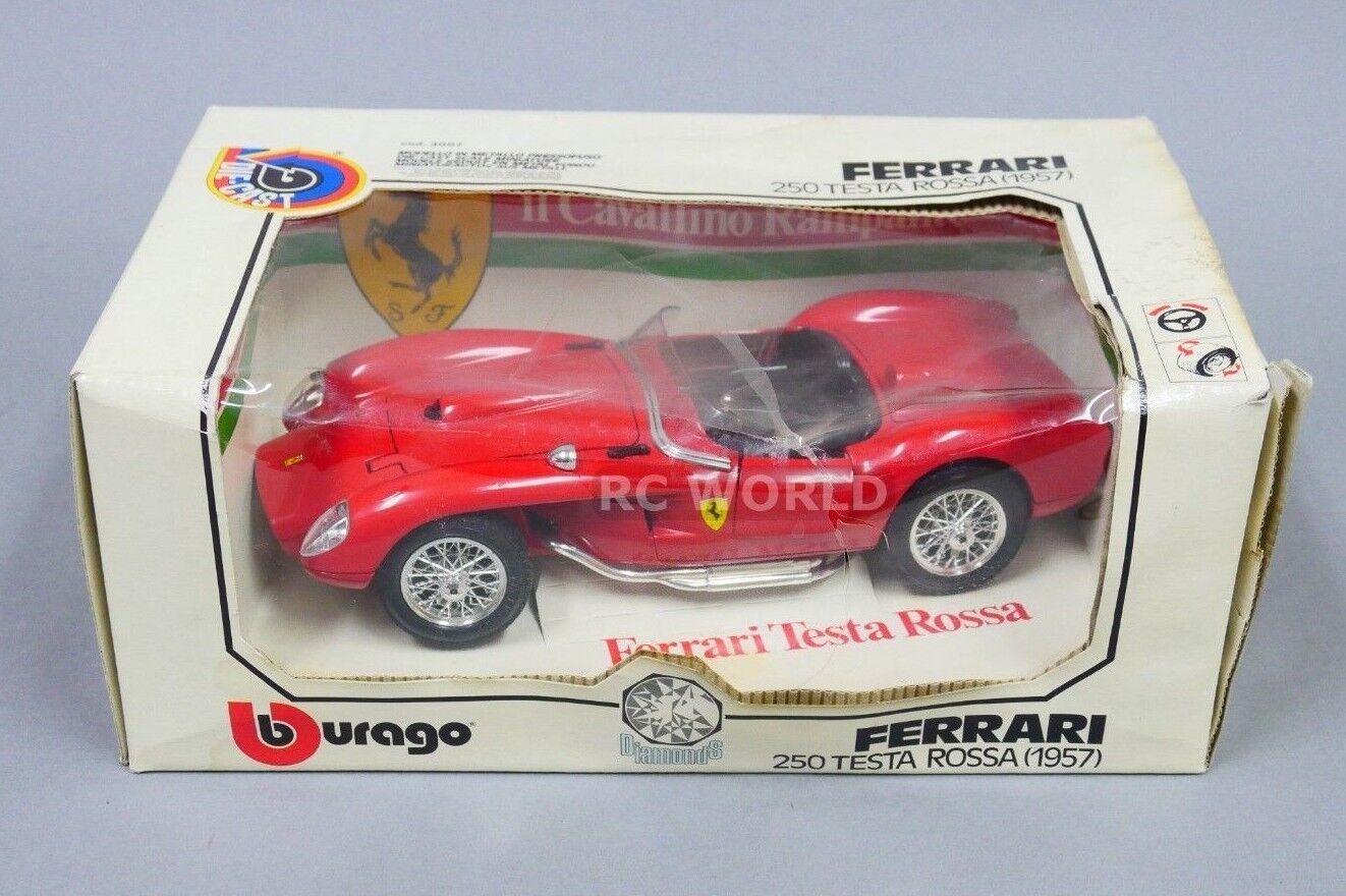 Vintage Burago 1 18 FERRARI 250 TESTA ROSSA  1957 Red Die Cast Model  zt