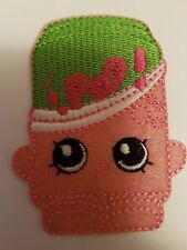Pink Shopkins Iron On Transfer Patch Sew on Embroidered New
