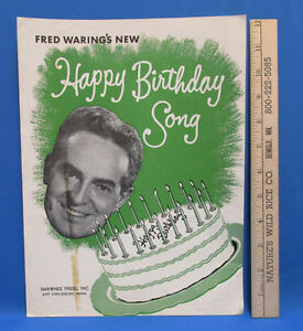Image Is Loading Vintage 1950 Fred Warings New Happy Birthday