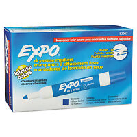 Expo Low Odor Dry Erase Marker Bullet Tip Blue Dozen 82003