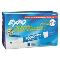 Expo Low Odor Dry Erase Marker Bullet Tip Blue Dozen 82003 on sale