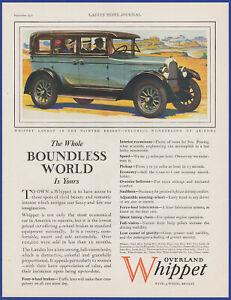 Vintage 1927 OVERLAND Whippet Automobile Car Art Décor Toledo 20's Print Ad