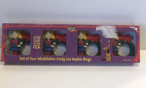 Dr Seuss How Grinch Stole Christmas Cindy Lou Napkins Rings Set of 2