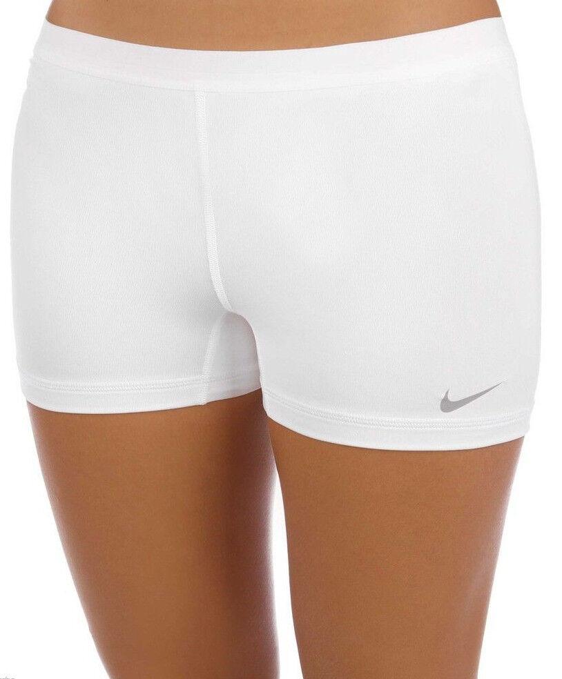 NEW  White Cool Grey  [S] NIKE Slam Women's  DRI-FIT Tennis Shorts Small  fashionable