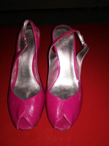Décolleté Con Guess Tacco Colore Plateau Fucsia Alto N scarpe rosa Donna 39 drTTnwXq