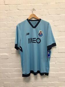 New-Balance-NB-FC-Porto-Men-039-s-2017-18-3rd-Shirt-XL-Bleu-Neuf