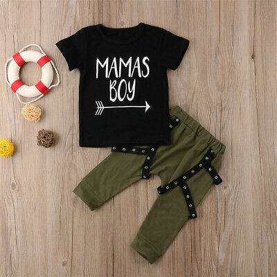 2PCS Toddler Kids Baby Boys Casual Clothes T-shirt Tops+Harem Pants Outfits Set