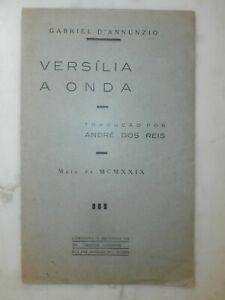 Rarissimo libro Gabriele d'Annunzio Versilia a onda 1929 invio Angelo Formiggini