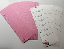 Filofax A5 Organiser Planner Note Paper - Pretty Weekly List & Check Sheets x20