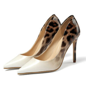 Women-039-s-Ladies-Pumps-Sandals-High-Stiletto-Heels-Leather-Pointed-Toe-Party-Shoes