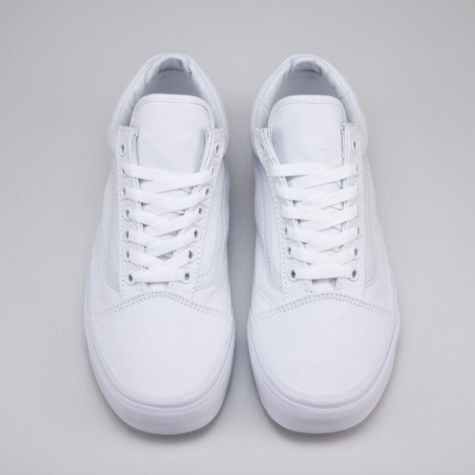 Vans Old box Skool True Weiß Trainers Schuhes New in box Old UK Größe 4,5,6,7,8,9,10,11,12 8a176e