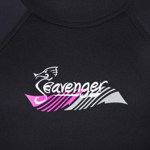 Seavenger Rubber Knee Pad 3mm Nylon II Neoprene Kids Junior Jumpsuit Pink