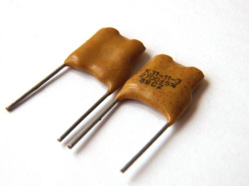2700pF 500V 5/% ex-USSR Silver Mica K31-11 Capacitor 25 pcs+