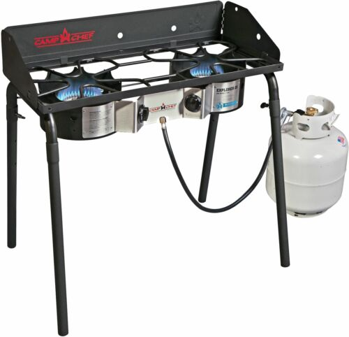 Camp Chef Explorer Deluxe Face Plate 2 Burner Stove Portable Camping 60,000 BTUs