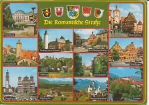 Die Romantische Straße Mehrbildkarte gl1992 222.328