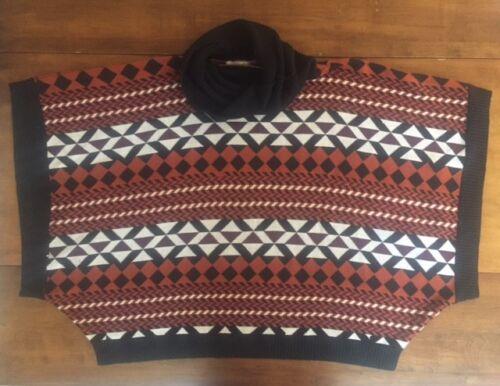 Anthropologie M Sweater Størrelse Addison Aztec Story Poncho l Kvinder Af Ambar BdtzwqBxg