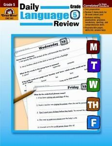 Daily Language Review: Daily Language Review, Grade 5 by Evan-Moor (1998,  Paperback, Teacher's Edition of Textbook)