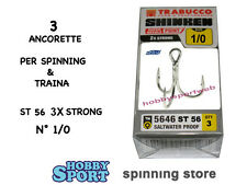 ANCORETTE OWNER TRABUCCO 5646  SERIE ST 56  N  1/0   INOX  CONF 3 PZ 3 X STRONG