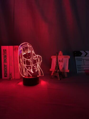 Led Nachtlicht Anime Waifu Geschenk Liebling In der Franxx Zero Two 3d Lampe