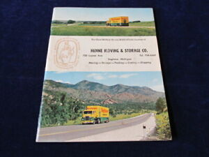 Vintage-1962-Rand-McNally-Henne-Mayflower-Moving-Co-US-Atlas-Map-Saginaw-MI-Q787