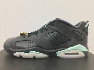 new arrival 542e4 c6ec5 Details about Nike Air Jordan Retro 6 Low Anthracite Mint GG GS 768878-015  3.5-7 1 3 4