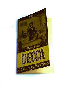 k102 Weich Und Rutschhemmend Neue Mode Schallplatten Parade Decca Platten Nummern Katalog Klassik 2/1951