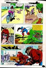 Original 1981 Captain America Marvel Comics color guide art page 28:1980's Colan