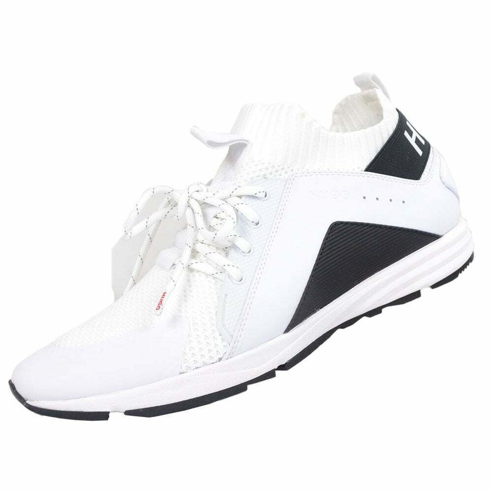 Hugo Boss Footwear Hybrid _ Nylon Mesh Run Bianco con Motivo Trainer