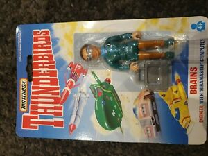 Vintage-1993-Matchbox-Thunderbirds-Gehirne-4-034-Figur-MOC-Gekrempelt-Gerry-Anderson