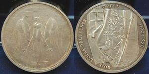 Frg 10 DM Lack Coinage 1990 Dt. Medal, Wertseite Strong Prägeausfälle Prfr