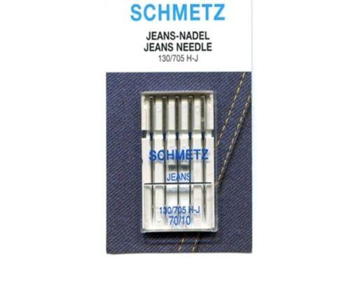 Premium Quality Schmetz Jeans Sewing Machine Needles 5 Pack 130//705 H-J