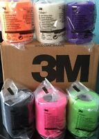 "3M Coban Self Adherent Wrap NEON COLORS 3""x 5 yds Roll Elastic Non Adhesive"