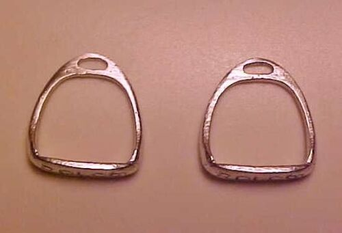 Silver IR Plated PAIR RDLC Traditional 1:9 Model Horse Scale RACING STIRRUPS