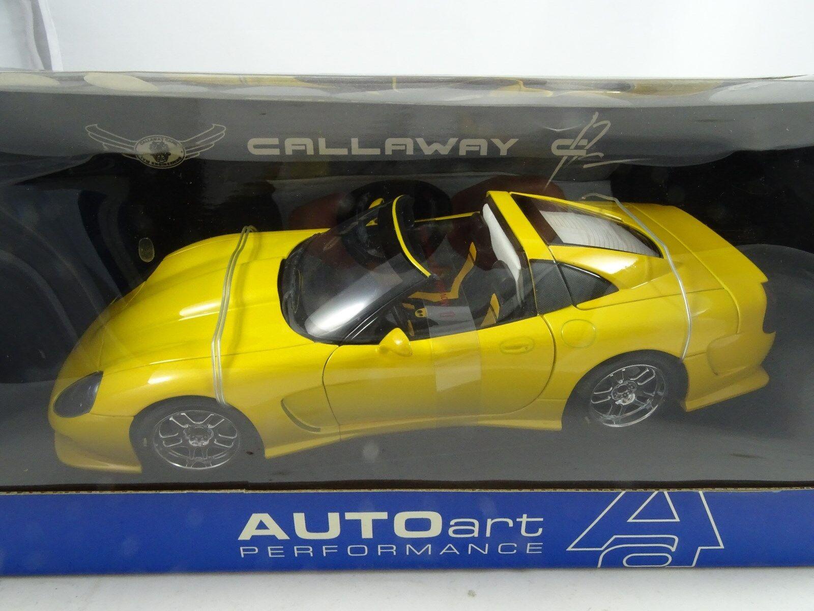 1 18 Autoart Callaway C12 giallo - Rareza§