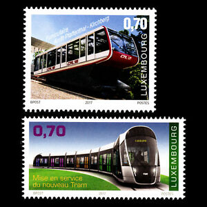 Luxembourg-2017-Tramway-et-le-Pfaffenthal-Kirchberg-Funiculaire-Train-neuf-sans-charniere