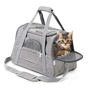 Pet Dog/Cat Carriers Portable Soft Sided Comfort Bag Outgoing Travel Case Safety
