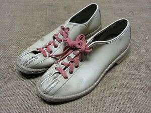 Image is loading Vintage-Brunswick-Leather-Bowling-Shoes -Antique-Football-Sports- fe01e826456