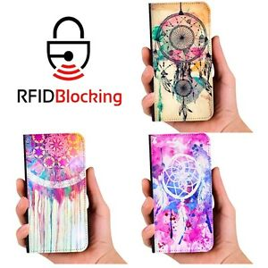 RFID-Protected-Dreamcatcher-Wallet-PU-Leather-Case-Cover-for-Samsung-Galaxy