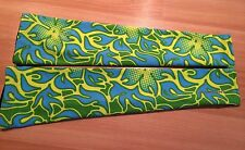 New Nishiki Printed Arm Warmer Sleeve M/L Golf Womens Green/Blue