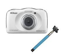 NIKON Coolpix S33 WATERPROOF Digital Camera 13MP + Selfie Stick WHITE *NEW*