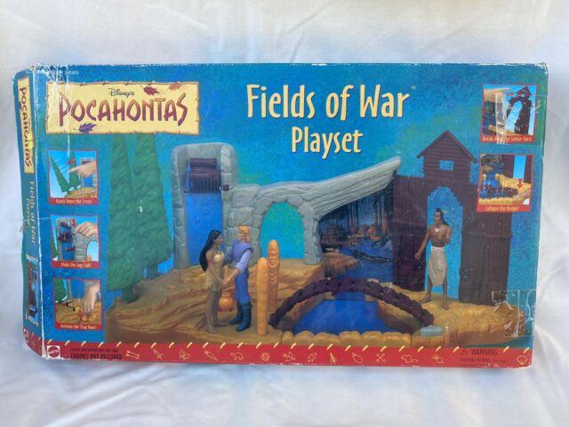 Vintage Disney's Pocahontas Fields Of War Playset By Mattel 1990s Meeko