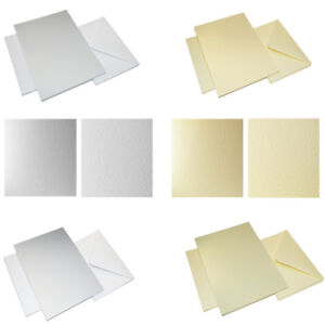 Wedding Invites 50 x C5 A5 Diamond White 100gsm Envelopes Greeting Cards