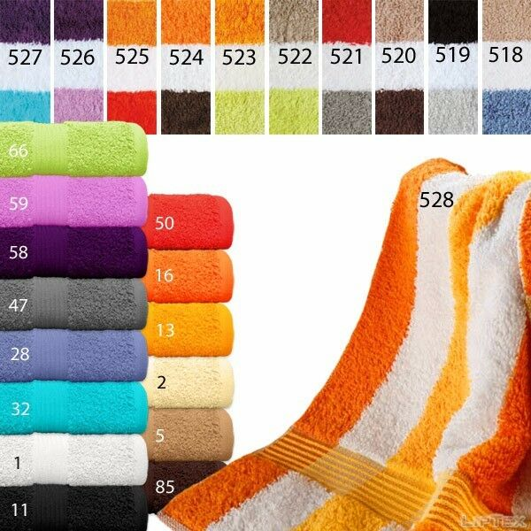 Duschtuch, Asciugamano, Panno ospiti, 25 Coloreeei, serie serie serie deluxe 550g bbdbed