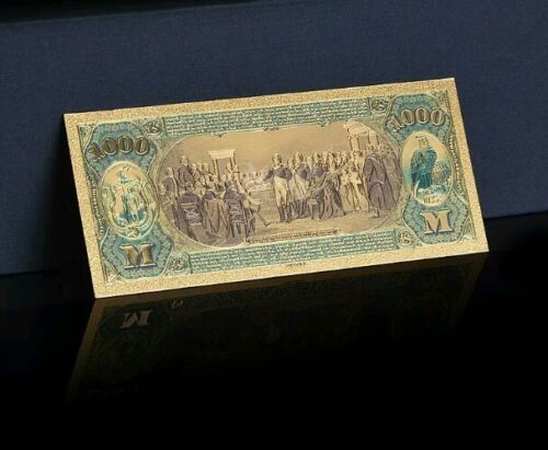 """/<~/>MINT GEM/>1875 /""""GOLD/""""$1,000 1ST National BANK Of SALEM Rep.* Banknote~STUNNING"""