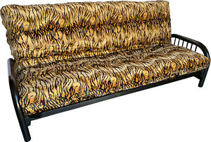 Etonnant Details About Tiger Skin Velvet Queen Size Futon Mattress Cover, Protector,  Washable Covers