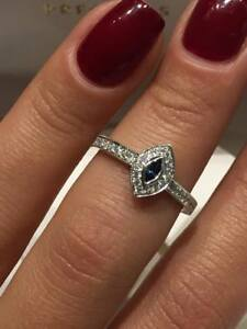 CLEARANCE-18CT-WHITE-GOLD-0-30CT-DIAMOND-AND-SAPPHIRE-MARQUISE-HALO-RING-LCL050