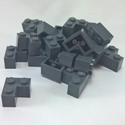 25 NEW LEGO Brick 2 x 2 Corner BRICKS Dark Bluish Gray