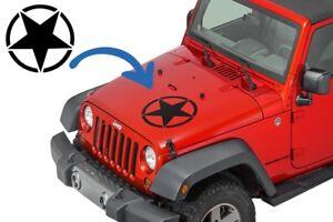 Transferibles-Etiqueta-Estrella-Universal-Jeep-Wrangler-JK-camion-Negro