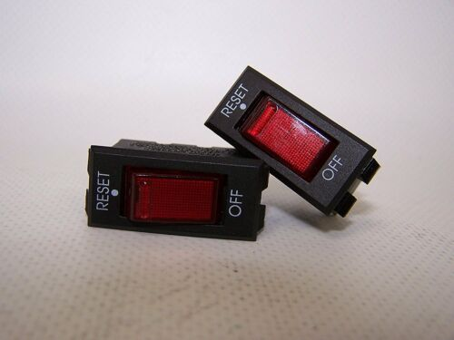 420915 PAIR (2) Sea-Dog Line 15 Amp Rocker Switch Circuit Breaker 12 Volt